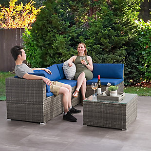 Parksville  5-Piece Outdoor Patio Sofa Sectional Set, , rollover
