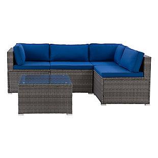 Parksville  5-Piece Outdoor Patio Sofa Sectional Set, , large