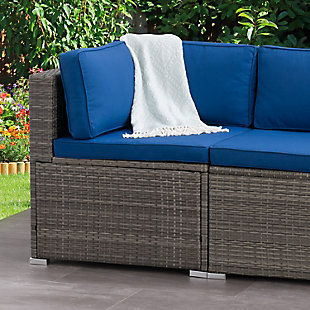 Parksville  Outdoor Patio Sectional Corner Chair, , rollover
