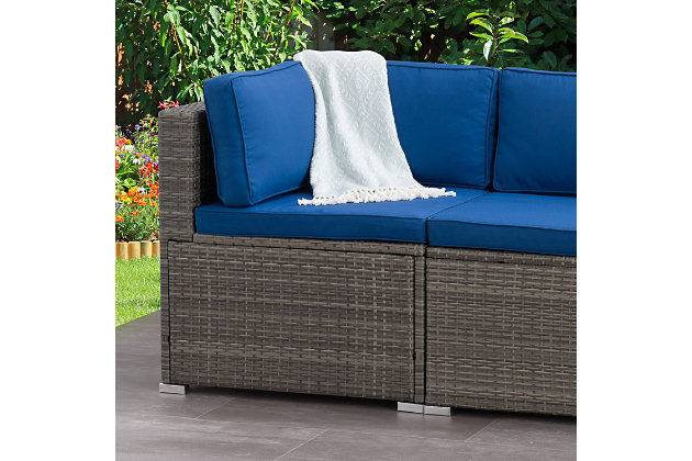 Parksville  Outdoor Patio Sectional Corner Chair, , large