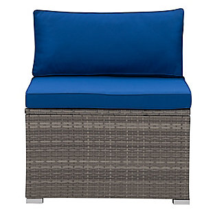 Parksville  Outdoor Patio Sectional Middle Chair, , large