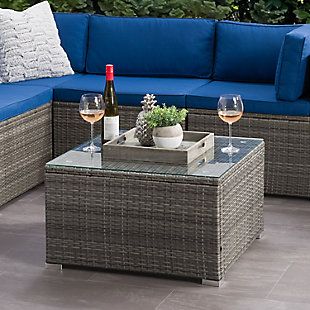 Parksville  Outdoor Patio Square Coffee Table, , rollover