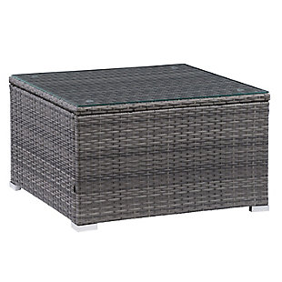 Parksville  Outdoor Patio Square Coffee Table, , large