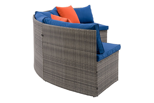 Parksville  Outdoor Patio Sectional Bench Set with Cushion, , large