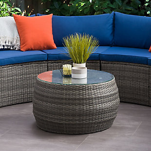 Parksville  Outdoor Patio Round Coffee Table, , rollover