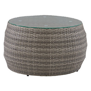 Parksville  Outdoor Patio Round Coffee Table, , large