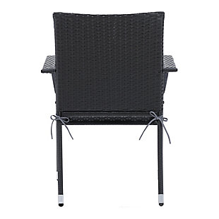 Parksville  Outdoor Patio Stackable Dining Chair with Cushion (Set of 2), , large