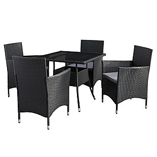 Parksville  5-Piece Outdoor Square Patio Dining Set, , large