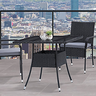 Parksville  Outdoor Patio Square Dining Table, , rollover