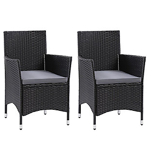 Parksville  Outdoor Patio Dining Armchair with Cushion (Set of 2), , large