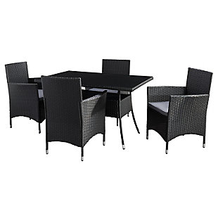 Parksville  5-Piece Outdoor Rectangle Patio Dining Set, , large