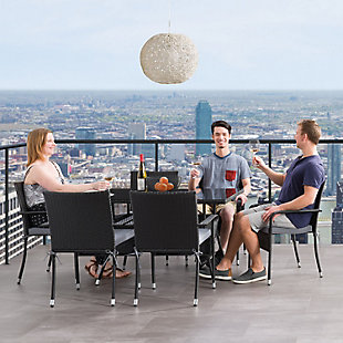 Parksville  7-Piece Outdoor Patio Dining Set with Stackable Chairs, , rollover