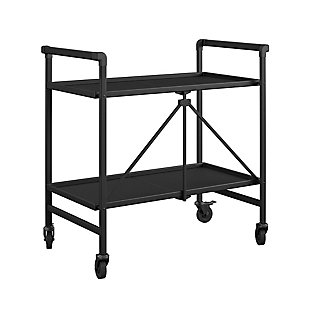 COSCO Outdoor Living Folding Serving Cart with Wheels and 2 Slatted Shelves, , large