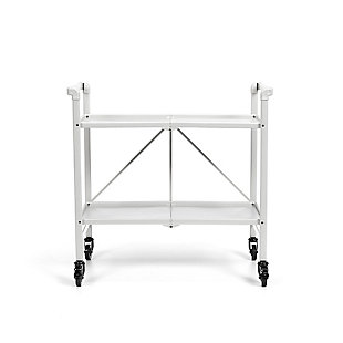 COSCO Outdoor Living Folding Serving Cart with Wheels and 2 Shelves, , large