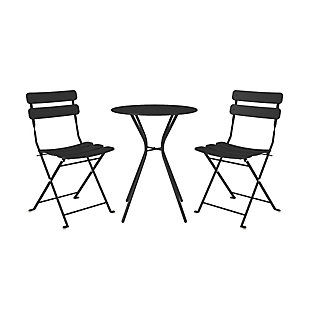 COSCO Outdoor Living 3-Piece Bistro Set with 2 Folding Chairs, , large