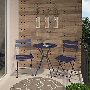 COSCO Outdoor Living 3-Piece Bistro Set with 2 Folding Chairs, , rollover