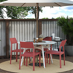 Novogratz Poolside Collection Chandler Stacking Dining Chairs (Set of 4), , rollover