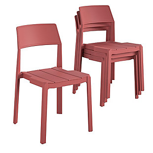 Novogratz Poolside Collection Chandler Stacking Dining Chairs (Set of 4), , large