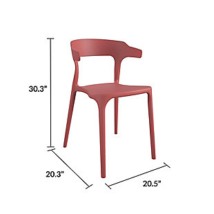 Novogratz Poolside Collection Felix Stacking Dining Chairs (Set of 4), , large