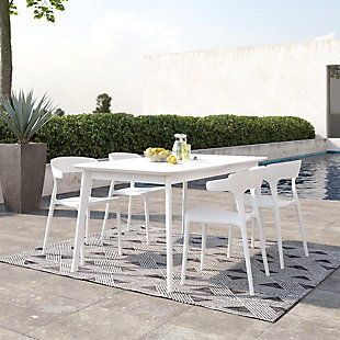 Novogratz Poolside Collection Felix Stacking Dining Chairs (Set of 4), , rollover