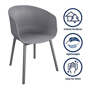 Novogratz Poolside Collection York XL Dining Chairs (Set of 2), , large