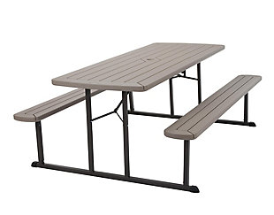 COSCO Outdoor Living 6' Folding Picnic Table, , large