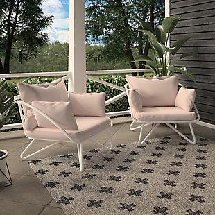 Novogratz Poolside Gossip Collection Teddi 2-Piece Outdoor Lounge Chair Set, , rollover