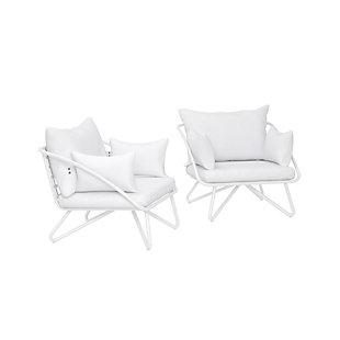 Novogratz Poolside Gossip Collection Teddi 2-Piece Outdoor Lounge Chair Set, , large