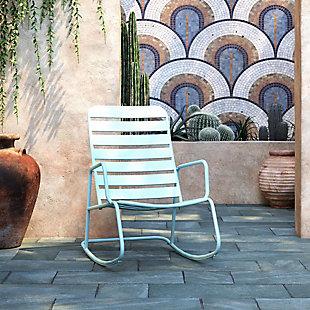 Novogratz Poolside Gossip Collection Roberta Outdoor/Indoor Rocking Chair, , rollover