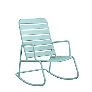 Novogratz Poolside Gossip Collection Roberta Outdoor/Indoor Rocking Chair, , large