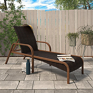 COSCO Outdoor Living SmartWick Patio Chaise Lounger, , rollover