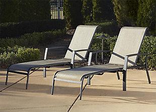 COSCO Outdoor Living Serene Ridge Outdoor Aluminum Chaise Lounger (Set of 2), , rollover