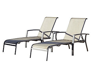 COSCO Outdoor Living Serene Ridge Outdoor Aluminum Chaise Lounger (Set of 2), , large