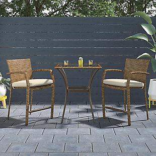 COSCO Outdoor Living 3-Piece High Top Bistro Patio Furniture Set, , rollover