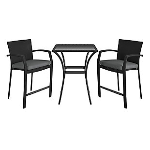 COSCO Outdoor Living 3-Piece High Top Bistro Patio Furniture Set, , large