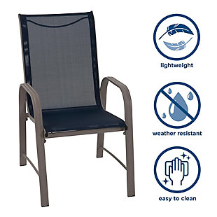 COSCO Outdoor Living Paloma Steel Patio Dining Chairs (Set of 6), , large