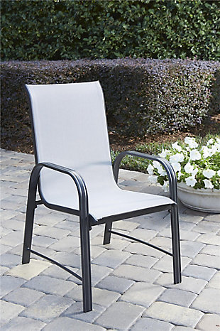 COSCO Outdoor Living Paloma Steel Patio Dining Chairs (Set of 6), , rollover