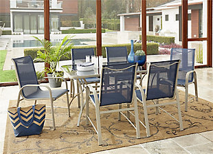 COSCO Outdoor Living COSCO Outdoor Living™ Paloma Steel Patio Dining Table, , rollover