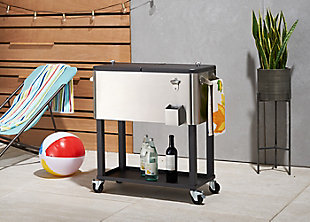 TRINITY Outdoor 100 Quart Stainless Steel Cooler with Shelf, , rollover