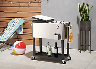 TRINITY Outdoor 100 Quart Stainless Steel Cooler with Shelf, , large
