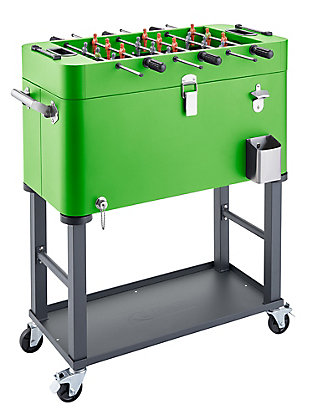 TRINITY Outdoor 80 Quart Foosball Cooler Detachable Tub with Cover, , large