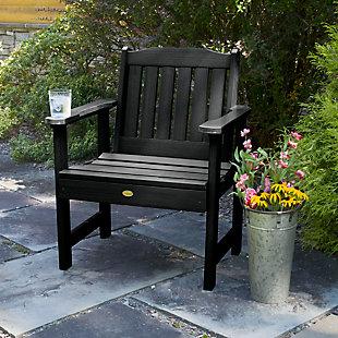 Highwood® Lehigh Outdoor Garden Chair, Black, rollover
