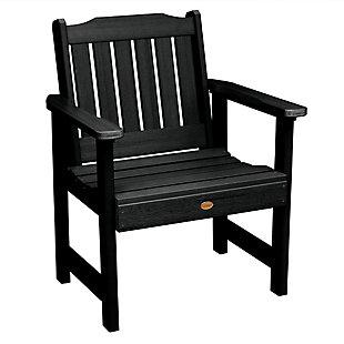 Highwood® Lehigh Outdoor Garden Chair, Black, large