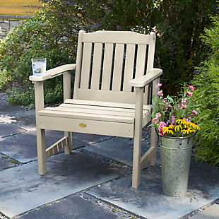 Highwood® Lehigh Outdoor Garden Chair, Whitewash, rollover