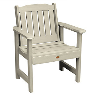 Highwood® Lehigh Outdoor Garden Chair, Whitewash, large