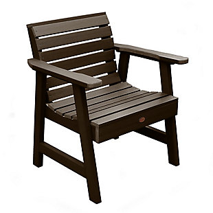 Highwood® Weatherly Outdoor Garden Chair, Weathered Acorn, large
