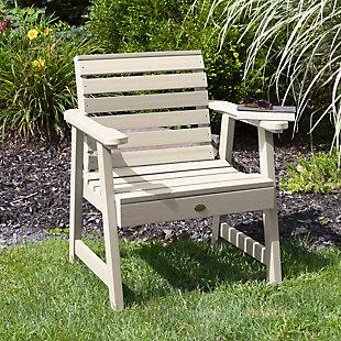 Highwood® Weatherly Outdoor Garden Chair, Whitewash, rollover