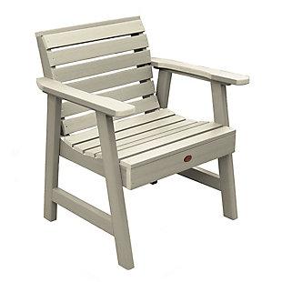 Highwood® Weatherly Outdoor Garden Chair, Whitewash, large