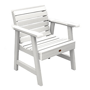Highwood® Weatherly Outdoor Garden Chair, White, large