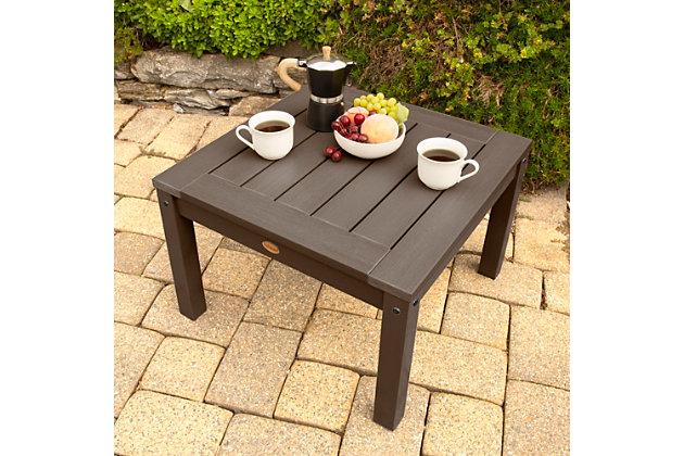 Highwood® Adirondack Outdoor Side Table, Weathered Acorn, large